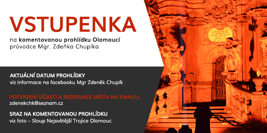 Vstupenka na prohlídku města Olomouce - Mgr. Zdeněk Chupík